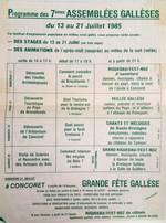Le programme 1985
